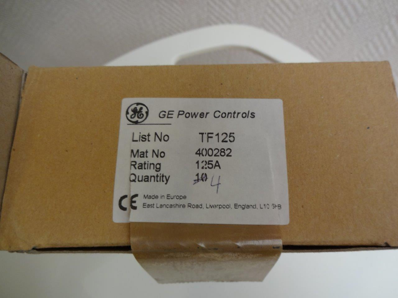 Tf125 Fuses Ge Power Controls Lwd Weutscheck Distributor Obsolete Fuse Box Bargain Offer