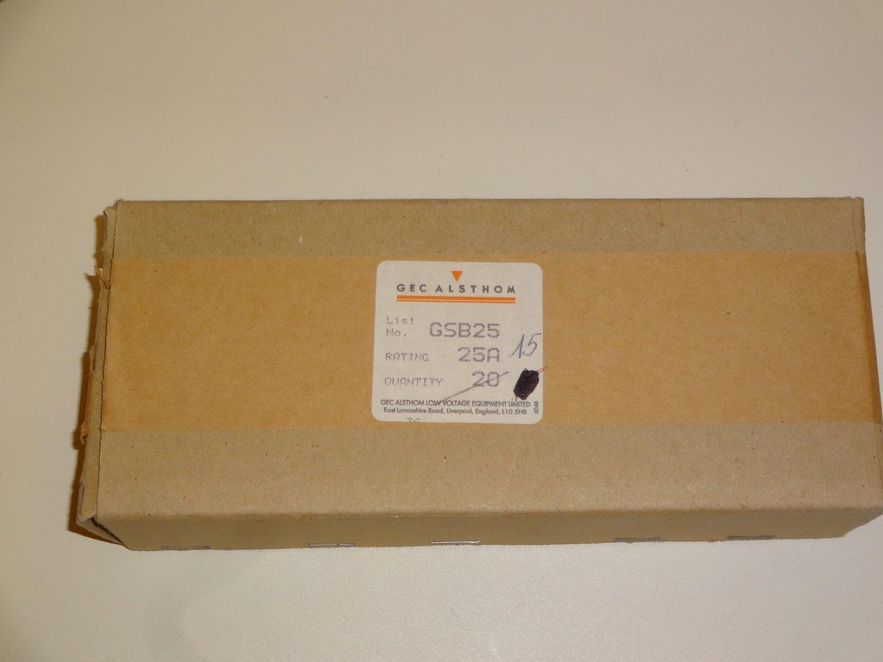 GSB25 fuses GEC-Alsthom - LWD | Weutscheck Distributor